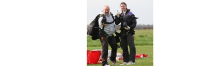 ex WSBA player - Chloe Hunt completes a 13,000ft Tandem Skydive for a local charity called Young People First - 23rd March 2019